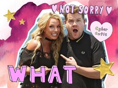 YUP, Britney Spears is headed to Carpool Karaoke and we're dead