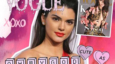 Watch this adorable video the Kardashians made for Kendall Jenner's Vogue cover