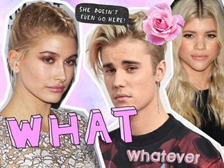 Hailey Baldwin comments on a Justin Bieber and Sofia Richie photo