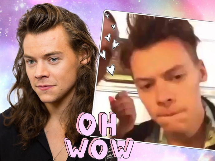 WATCH: Harry Styles talking with short hair in 2016