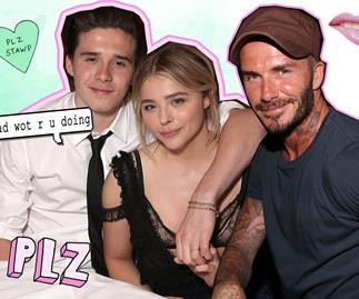 David Beckham tagged along on Chloë and Brooklyn's date