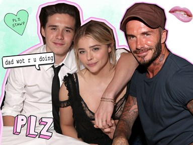 David Beckham tagged along on Chloë and Brooklyn's date cos he's David Beckham
