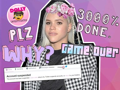 Sofia Richie's Twitter account has been suspended and we have SO many questions