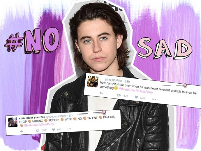 #NashGrierIsOverParty is trending on Twitter