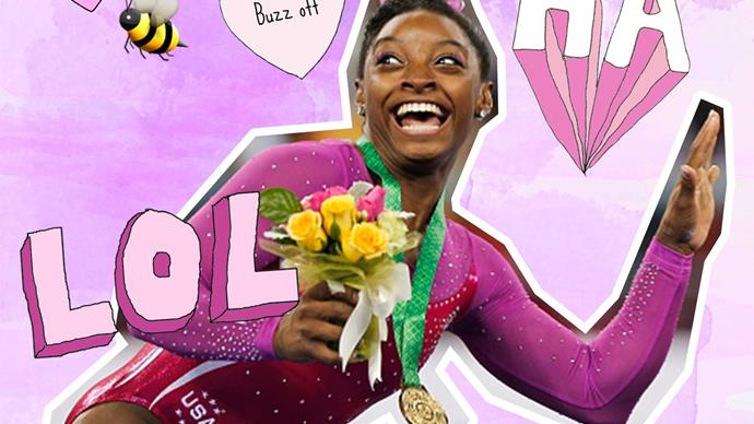 Simone Biles reaction to a bee is everything