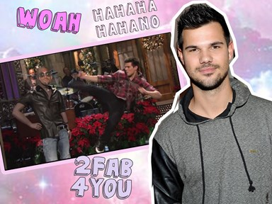 Remember that time Taylor Lautner beat up Kanye West on live TV?