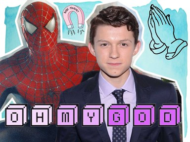 Tom Holland surprises a children's hospital in his Spiderman costume and yep, he's perfection