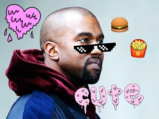 Kanye West has written a poem about McDonalds