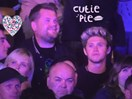 Niall Horan watches on in ~awe~ as James Corden performs with Coldplay