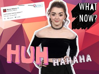 Maisie Williams is freaking out over Game of Thrones season 7