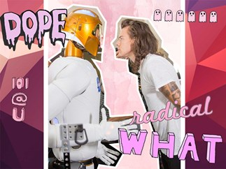 The robot from 1D's Drag Me Down is a Harry Styles fan