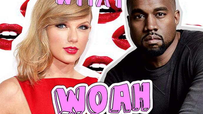 Kanye West shares a collab tee with him and Taylor Swift