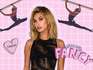 Hailey Baldwin has us all shook with her insane flexibility