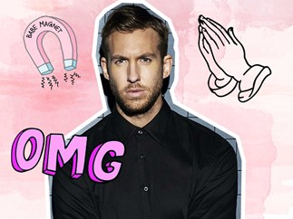 Calvin Harris shows off his abs on Instagram