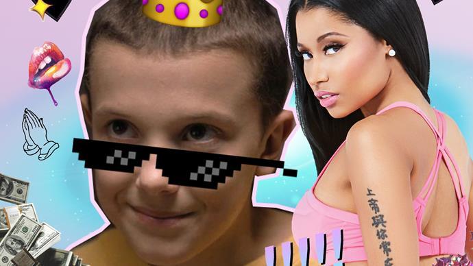 Watch Eleven from 'Stranger Things' rap Nicki Minaj