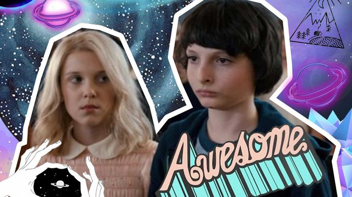 Eleven and Mike from Stranger Things talk about kissing scene