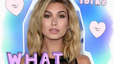 Hailey Baldwin reacts to plastic surgery allegations