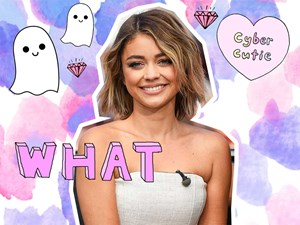 Sarah Hyland thinks this Snapchat filter is based on her face