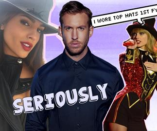 Calvin Harris has moved on with model Eiza Gonzales