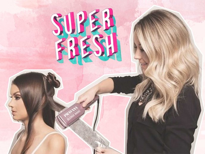 The Pravana Blonde Wand can lighten your hair in minutes