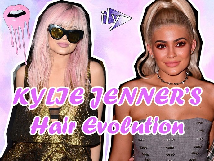 The complete hair evolution of Kylie Jenner