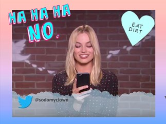Margot Robbie and celebrities read out Mean Tweets