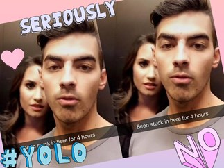 Demi Lovato and Joe Jonas get stuck in an elevator