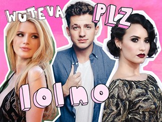 Charlie Puth, Bella Thorne and Demi Lovato are flirting