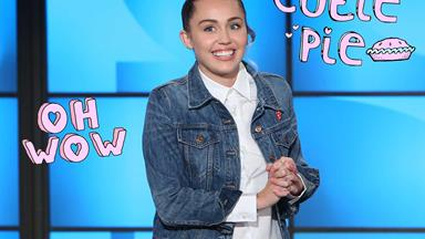 Miley Cyrus hosts the Ellen Show and she #NailedIt