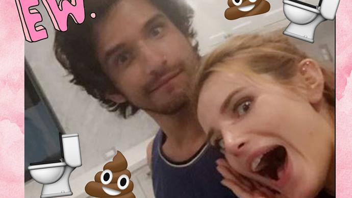 Bella Thorne Snapchats Tyler Posey taking a poop