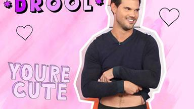 Watch Taylor Lautner get soaking wet on Ellen and HOLY muscles