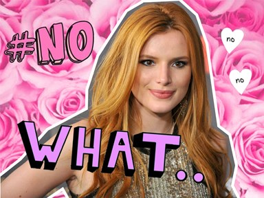 Watch Bella Thorne awkwardly shut down a kiss from a baben' dude