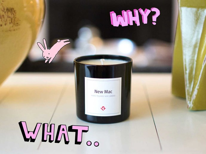 New Mac scented candle