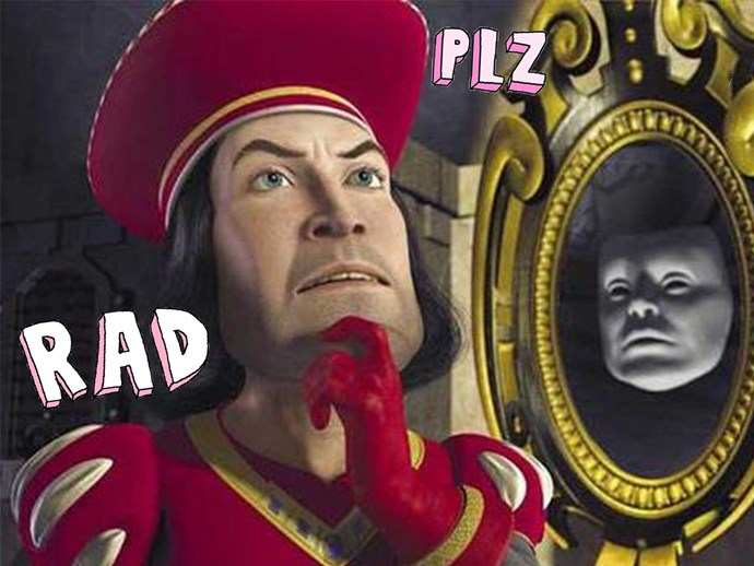 Facebook's logo is very similar to Lord Farquaad's sigil