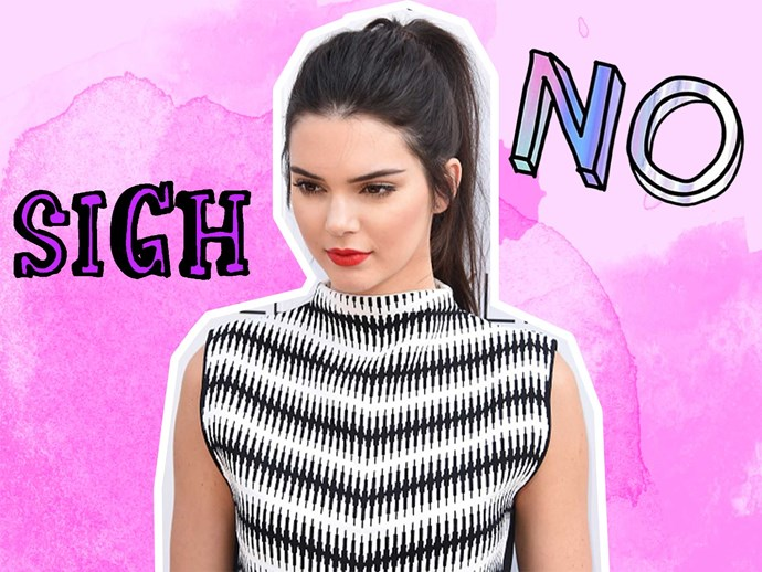 Kendall Jenner refused her homework to be filmed on 'KUWTK'