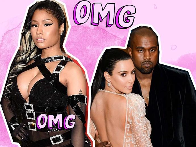 Nicki Minaj calls out Kanye West for marrying Kim Kardashian