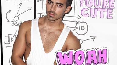 Joe Jonas has had the a steamy-hot photoshoot in a shower while talking about more SEX!