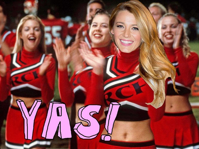 Blake Lively shares throwback of her cheer-leading days