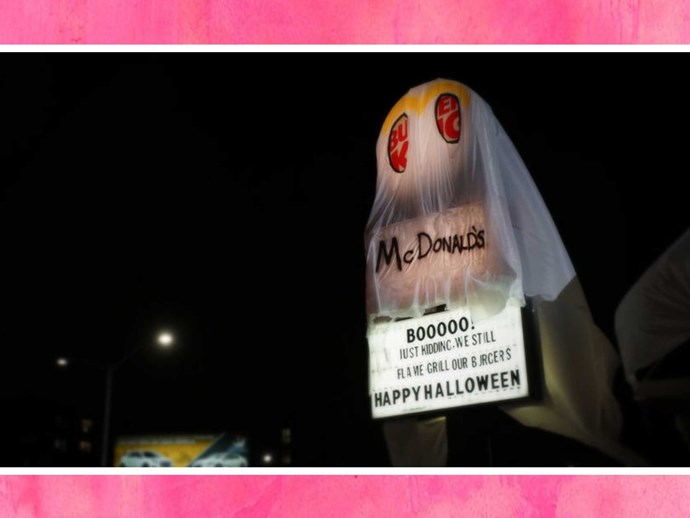 Burger King dress as McDonalds for Halloween