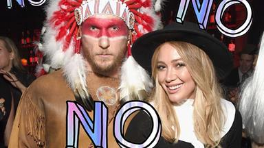 Hilary Duff and her boyfriend have been slammed for their offensive Halloween costumes