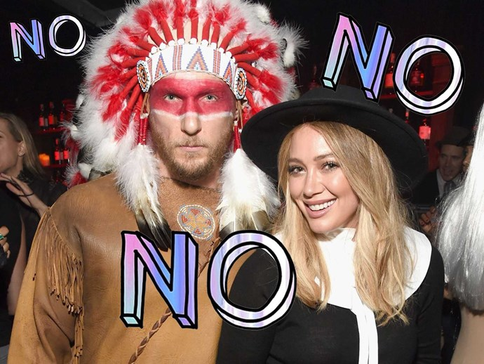 Hilary Duff and boyfriend Jason Walsh offensive Halloween costumes