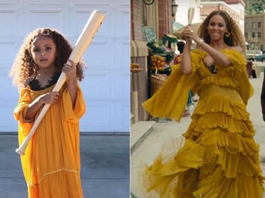 This 5-year-old dressed as Beyonce for Halloween, absolutely slayed it