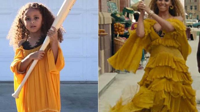 5-year-old dresses as Beyonce and slays it