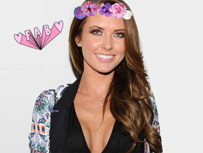 Audrina Patridge Hawaiian themed wedding pictures