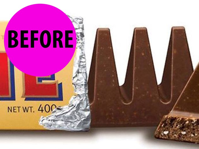 Toblerone has changed its shape