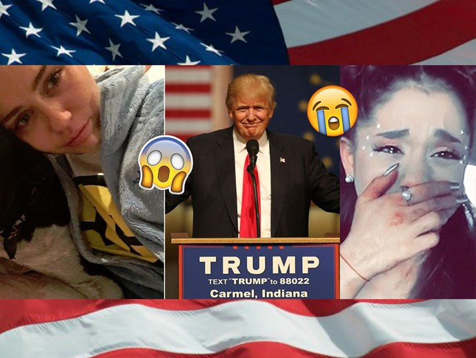 Celebrities react, freak out and cry over Donald Trump's presidential win