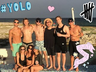 5SOS are shirtless and ready to party for Michael Clifford's 21st birthday