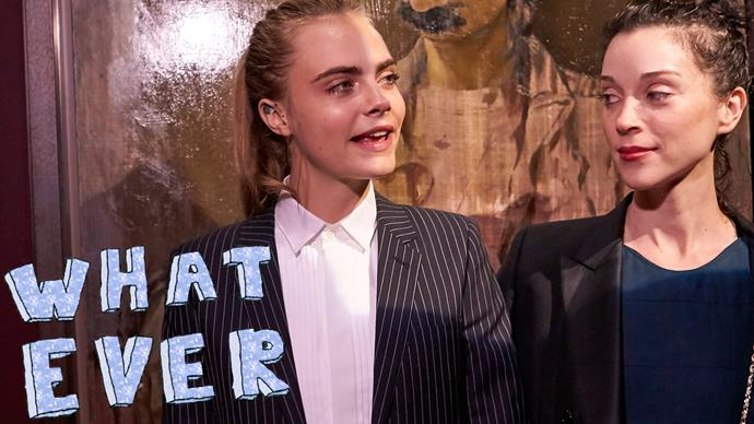 Cara Delevingne shades St Vincent with new tattoo