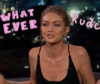 Gigi Hadid shades One Direction music on Jimmy Kimmel