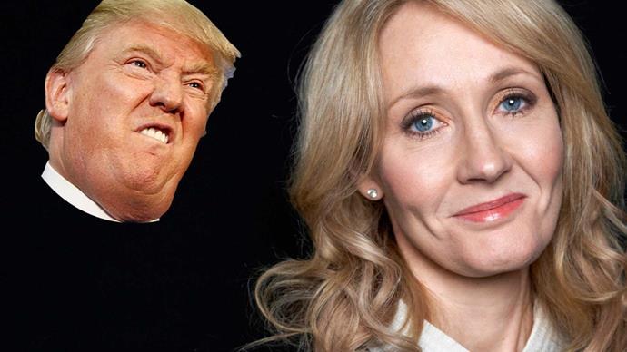 J.K. Rowling slams Donald Trump supporters